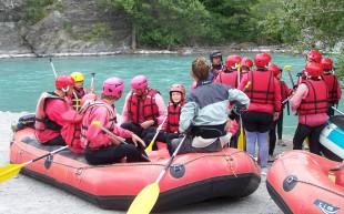 Rafting aux alentours du Camping Le Nautic