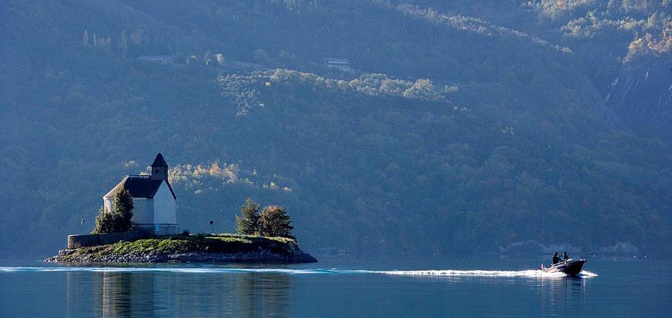 Camping Le Nautic vue sur la baie Saint Michel
